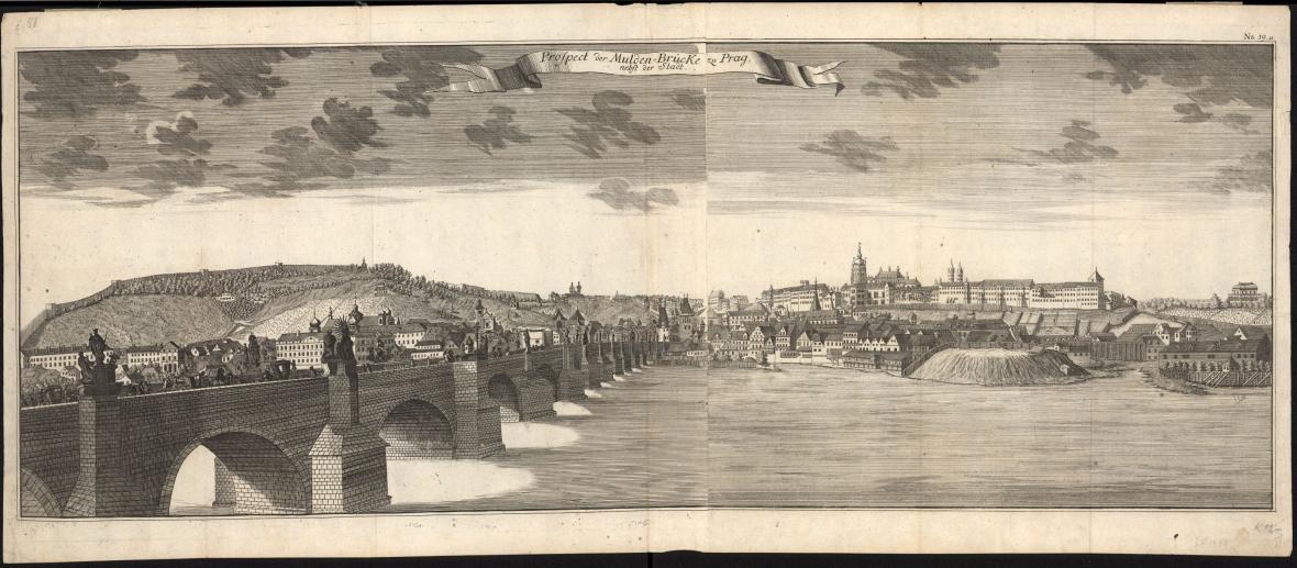 Z výstavy Pražské veduty v Muzeu hl. m. Prahy