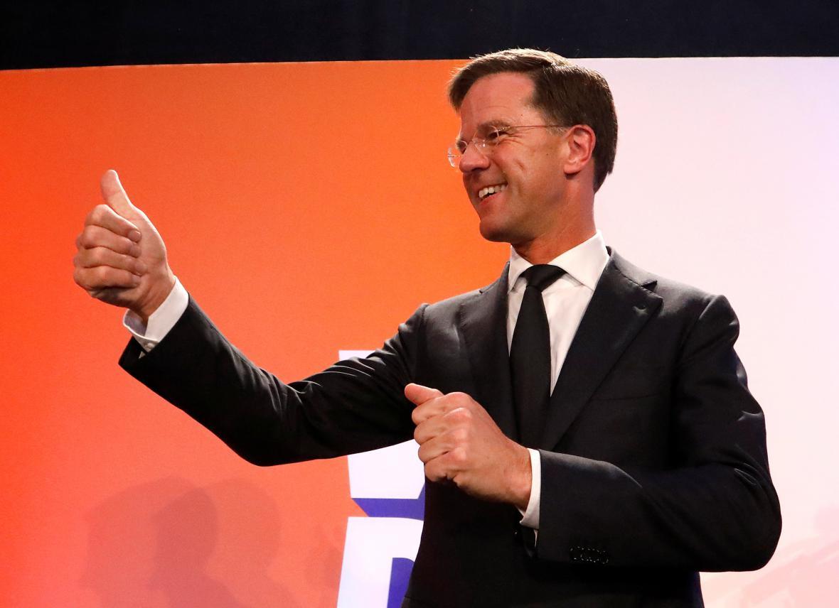 Mark Rutte, lídr vítězné VVD