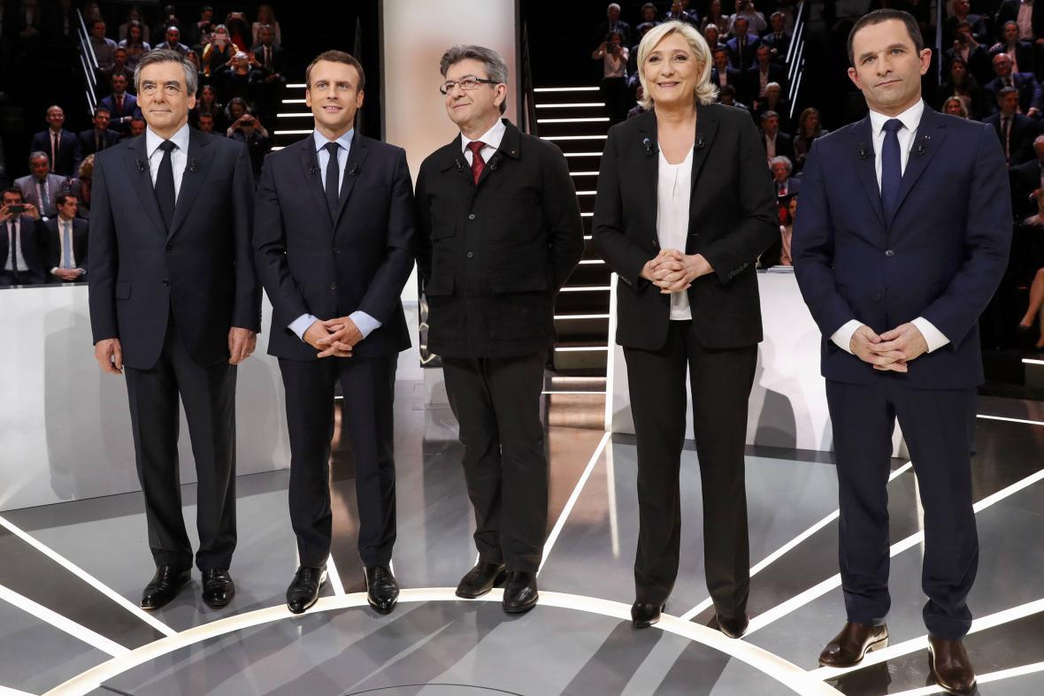 Kandidáti na francouzský prezidentský úřad před první debatou