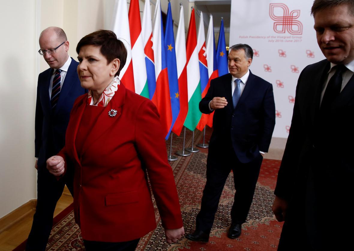 Premiéři zemí visegrádské čtyřky