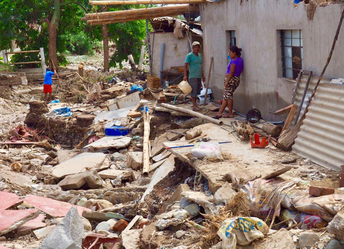 Následky povodní v severní části Peru