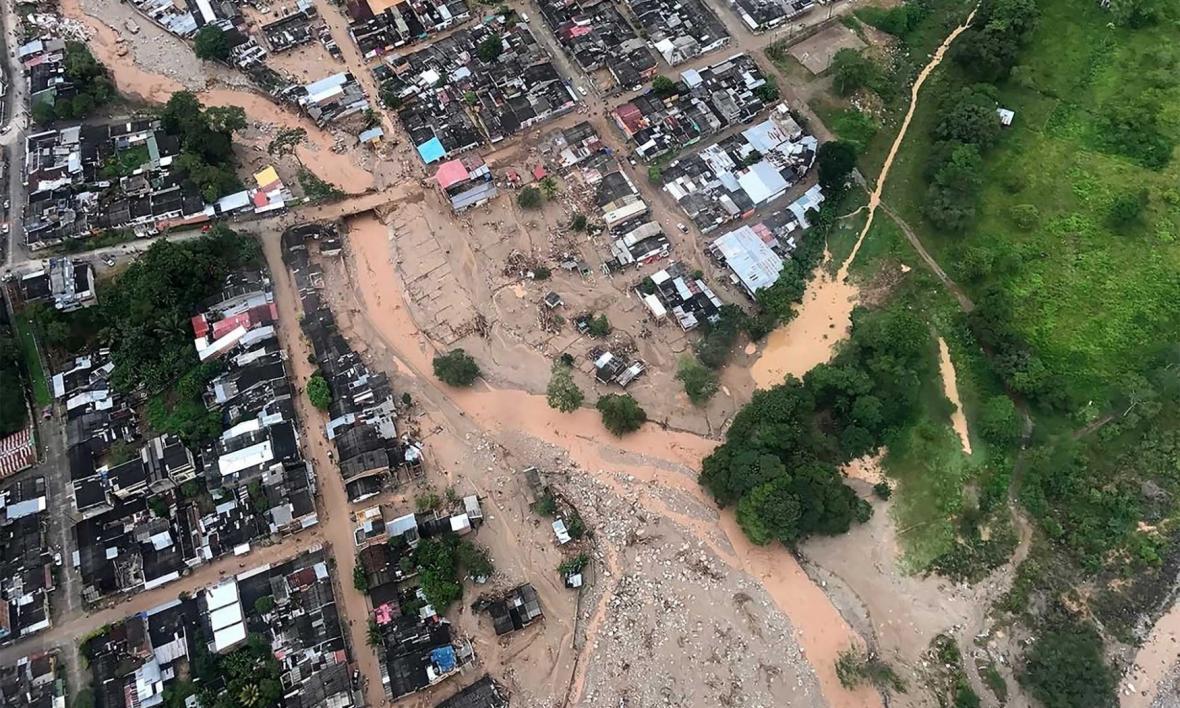 Neštěstí na jihozápadě Kolumbie
