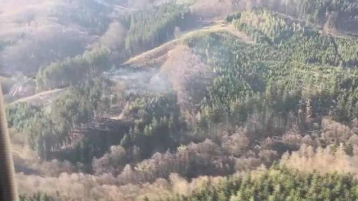 Letecké požáry na místě požáru
