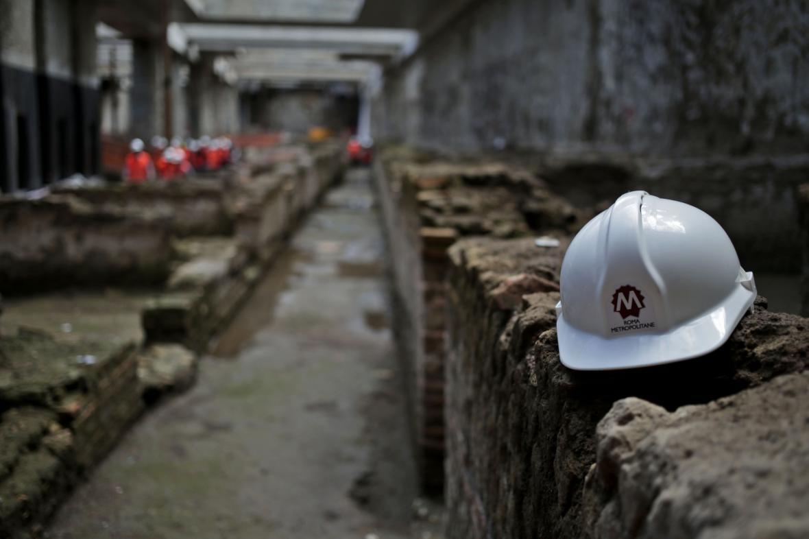 Vykopávky v římském metru