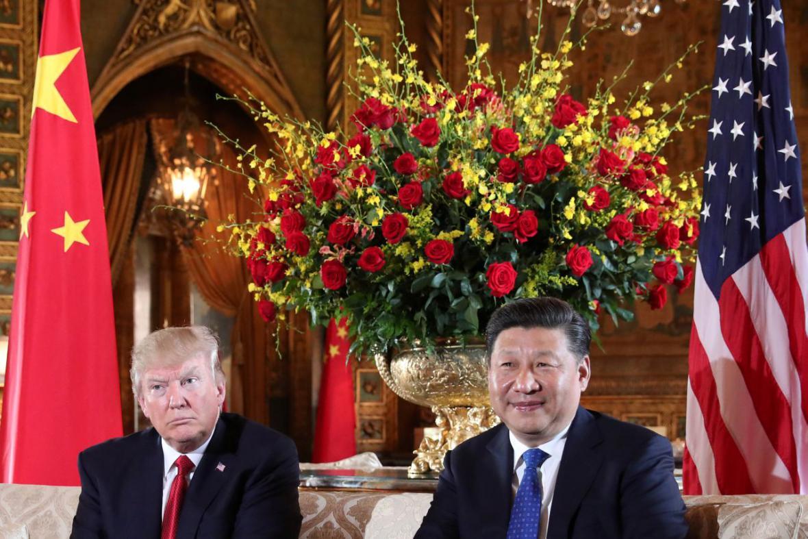 Setkání Donalda Trumpa a Si Ťin-pchinga