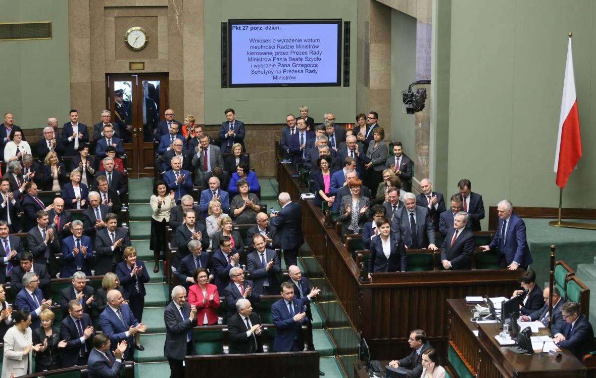 Zasedání polského parlamentu