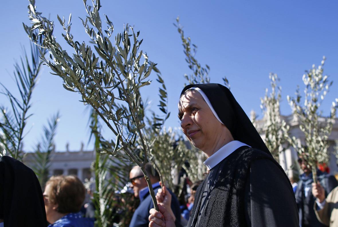 Křesťané slaví květnou neděli