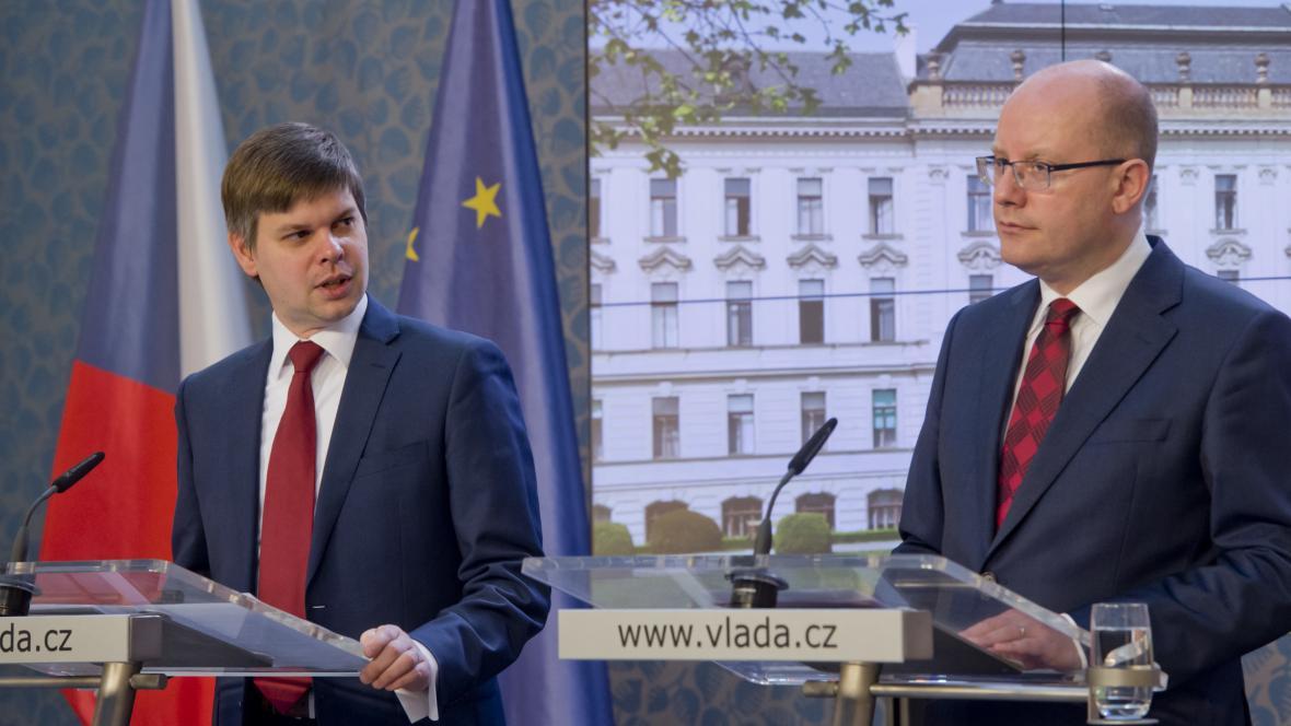 Ondřej Malý a Bohuslav Sobotka