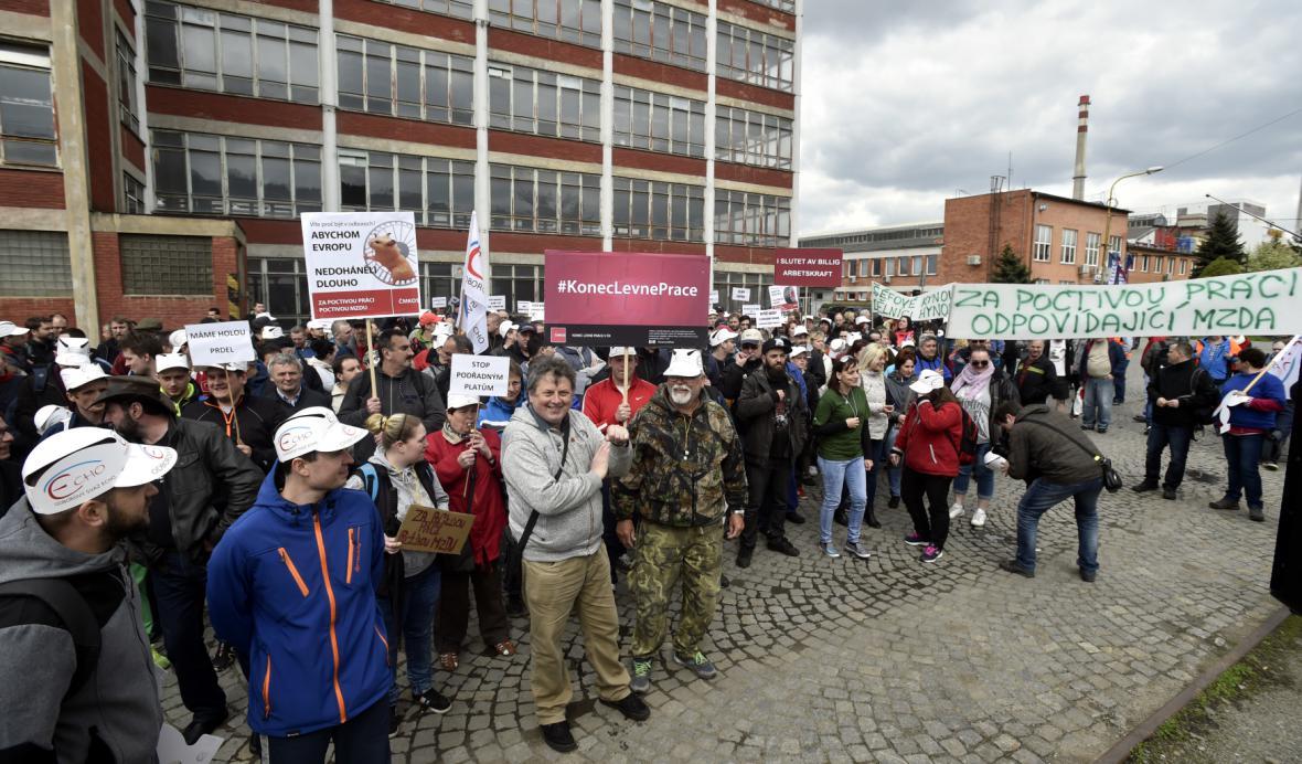 Stávka ve zlínském Mitasu