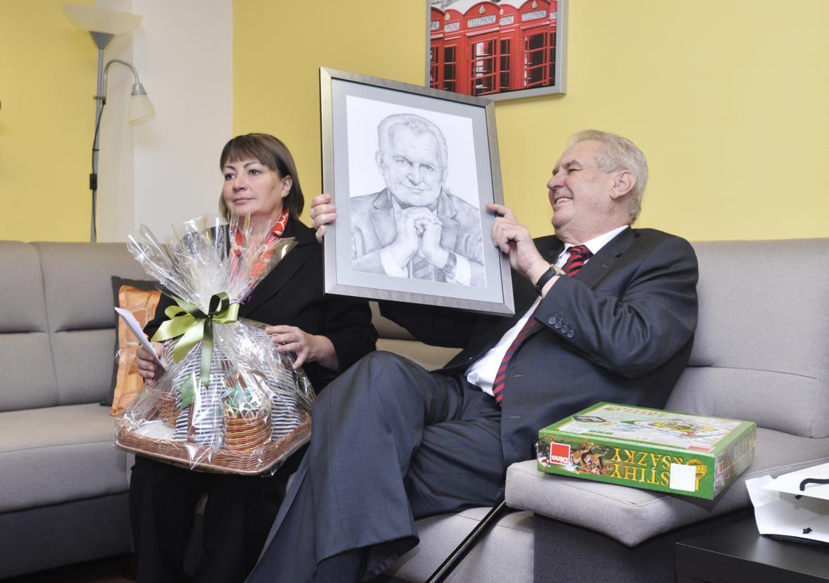 Miloš Zeman s chotí Ivanou