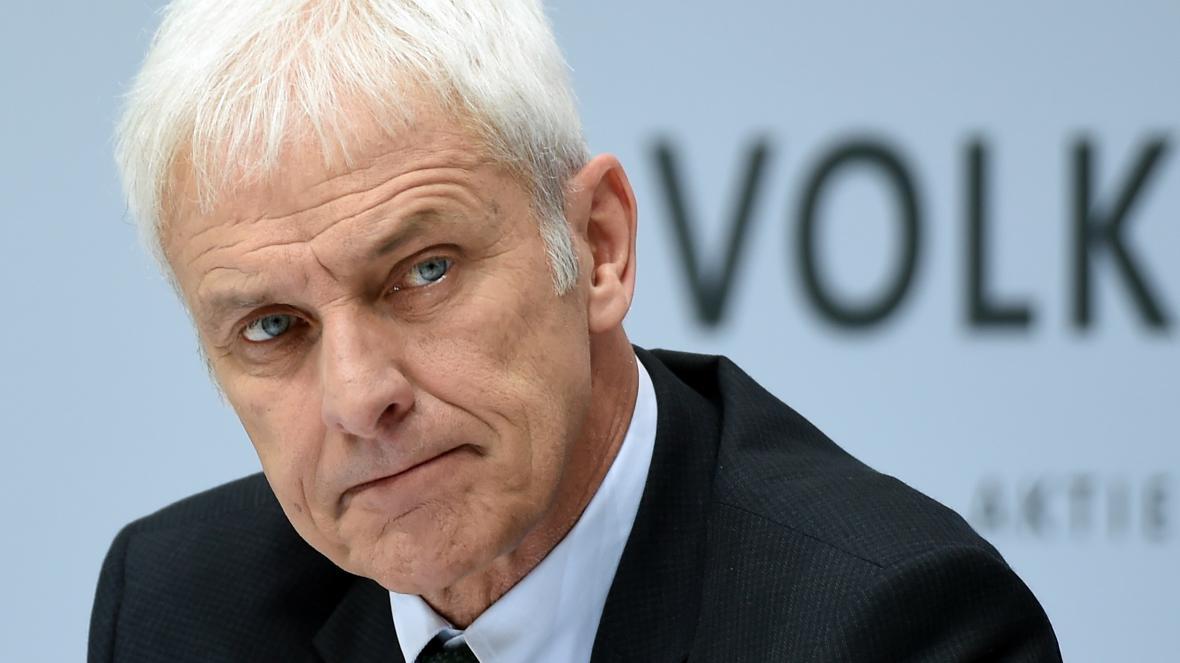 Ředitel automobilového koncernu Volkswagen Matthias Müller