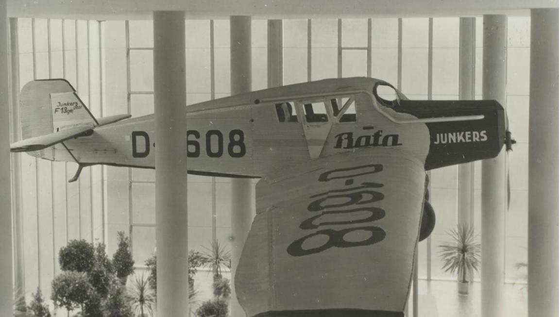 Letadlo v Památníku Tomáše Bati