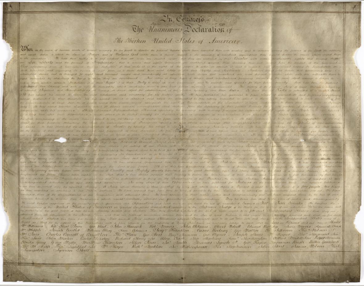 Kopie tzv. deklarace ze Sussexu