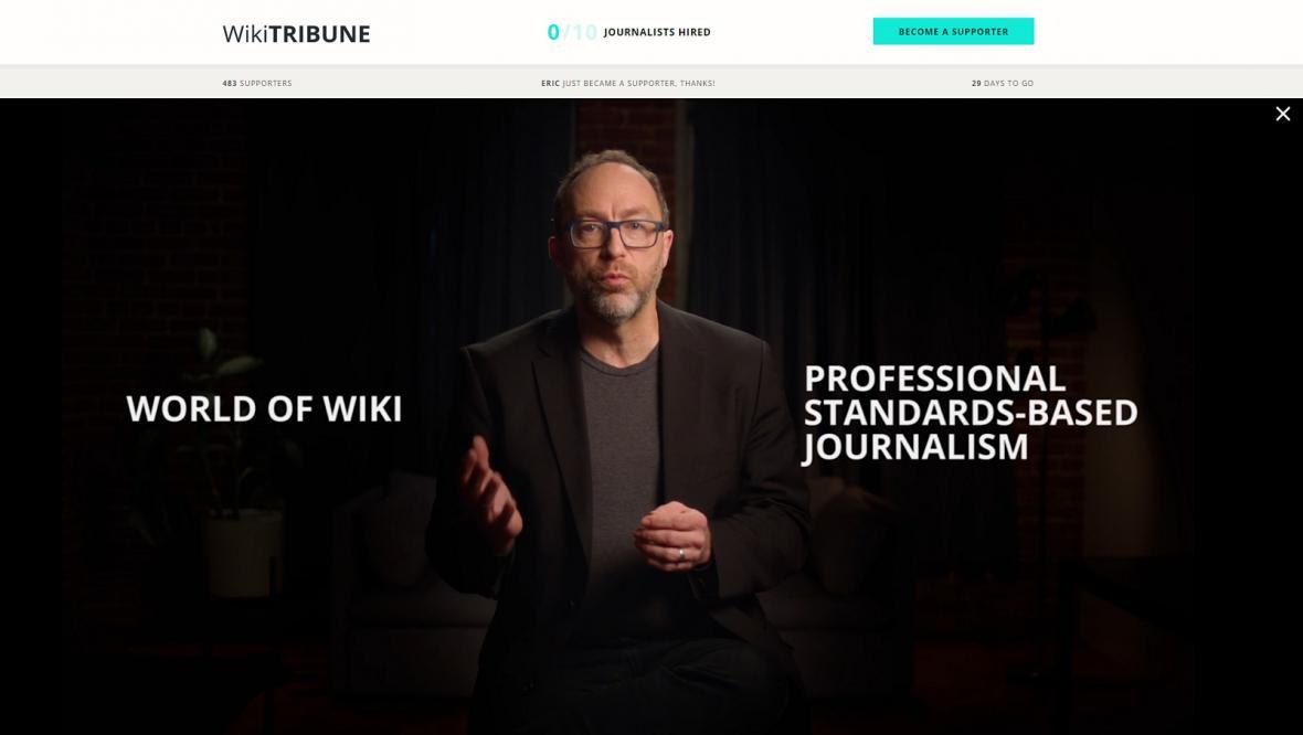 Nová platforma má spojovat to nejlepší z profesionální žurnalistiky a systému wiki
