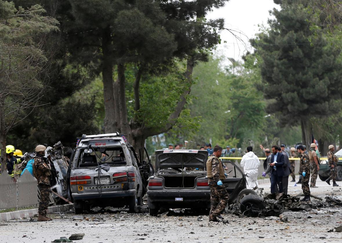 Následky útoku v afghánské metropoli