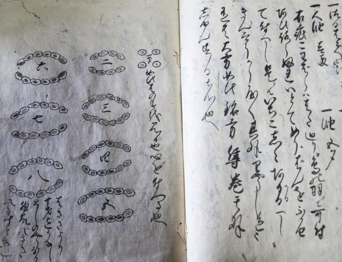 Středověké dokumenty přechovávané mezi ninjy