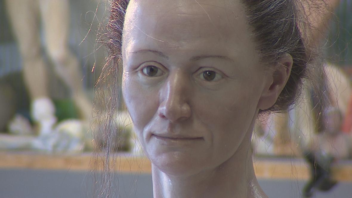 Zrekonstruovaná tvář šamanky