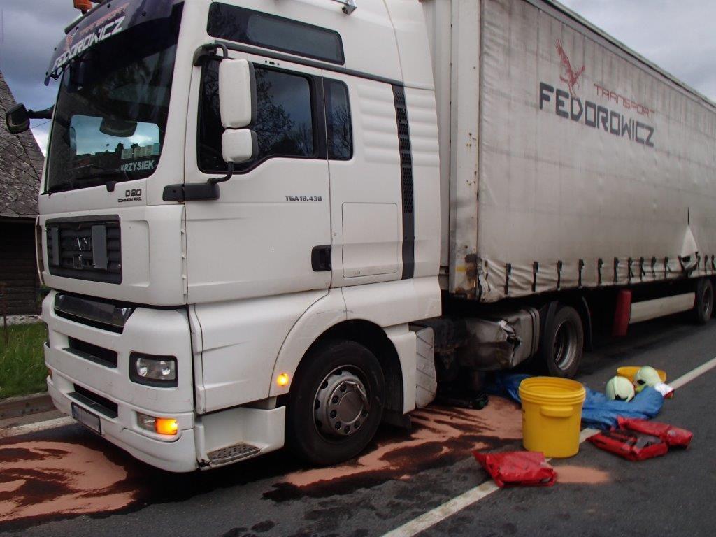 Kamion po zastavení