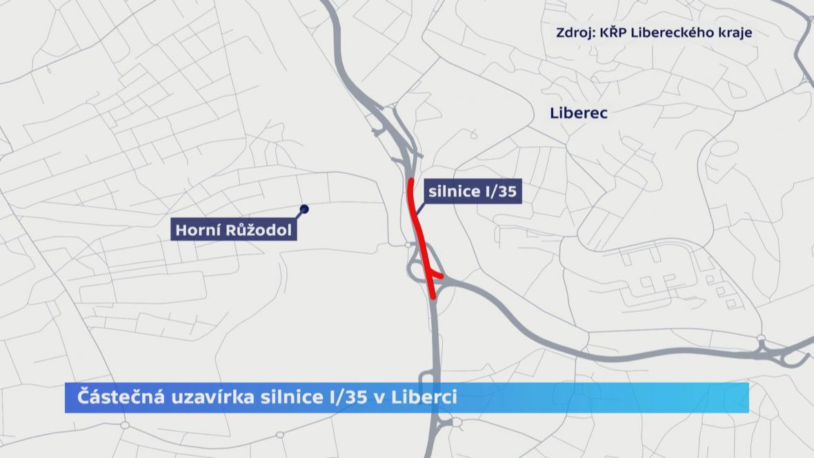 Dopravní komplikace v Liberci