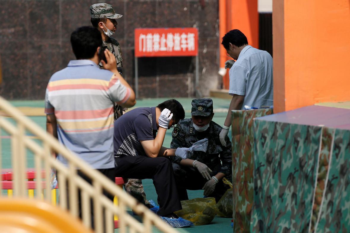 Vyšetřování výbuchu v čínské mateřské škole