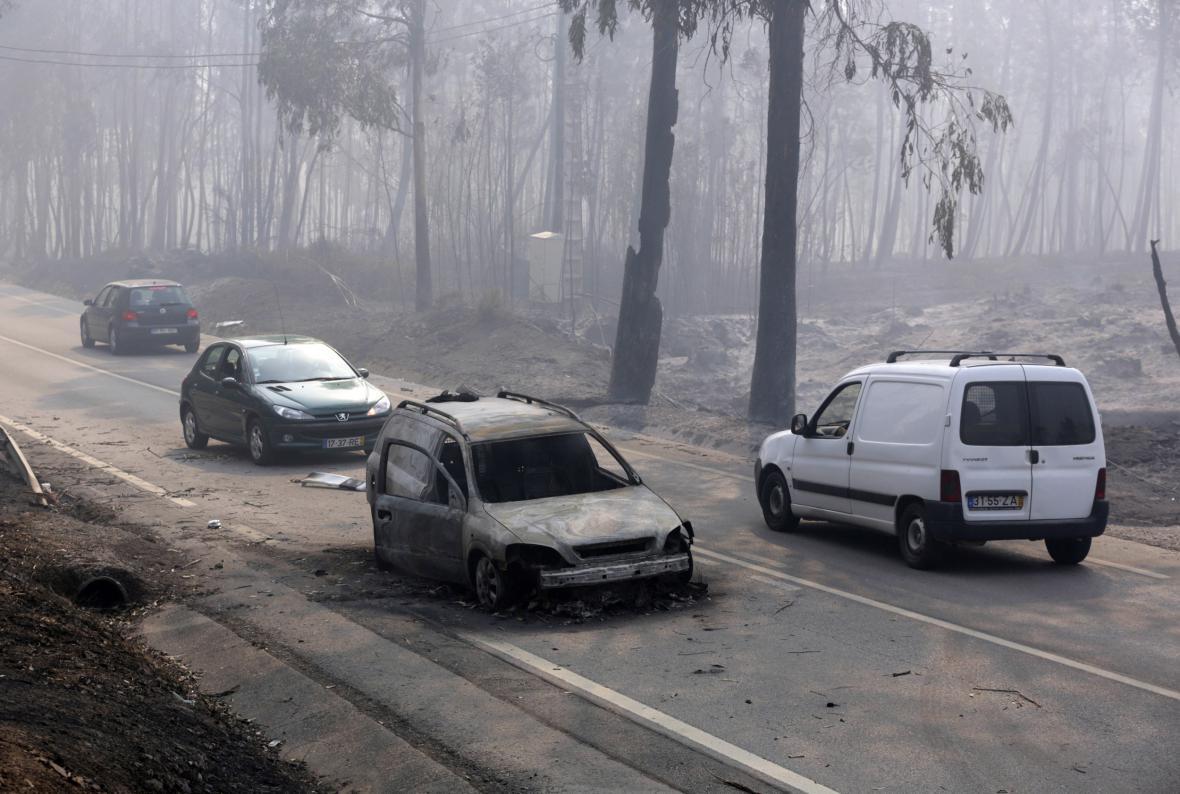 Lesní požáry v Portugalsku