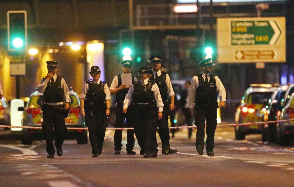 Policejní jednotky na místě činu
