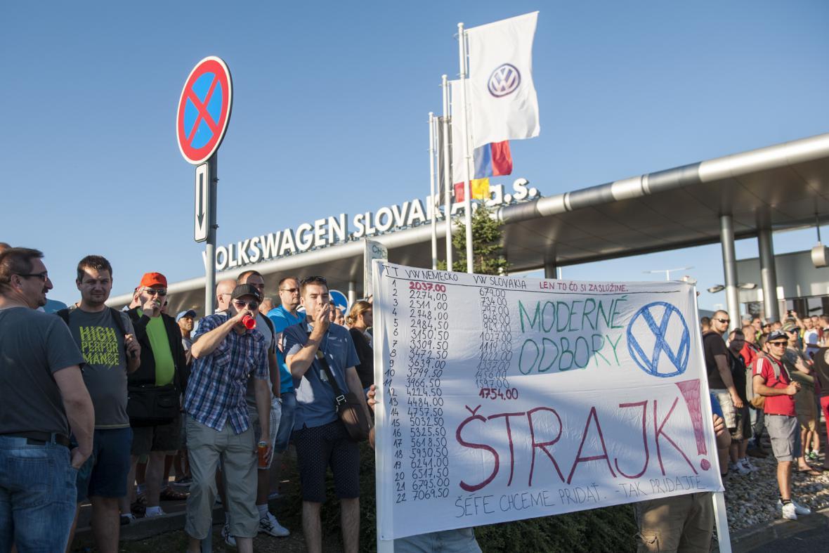 Stávka ve slovenském Volkswagenu