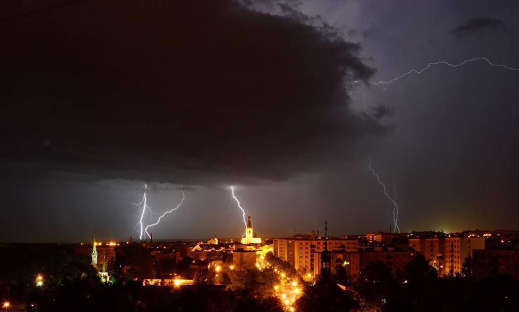 Bouřka v Lounech