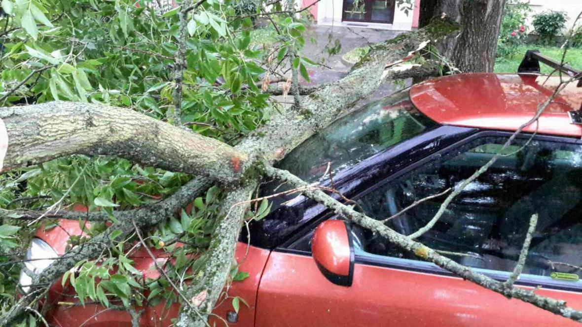 Následky bouřky na Olomoucku