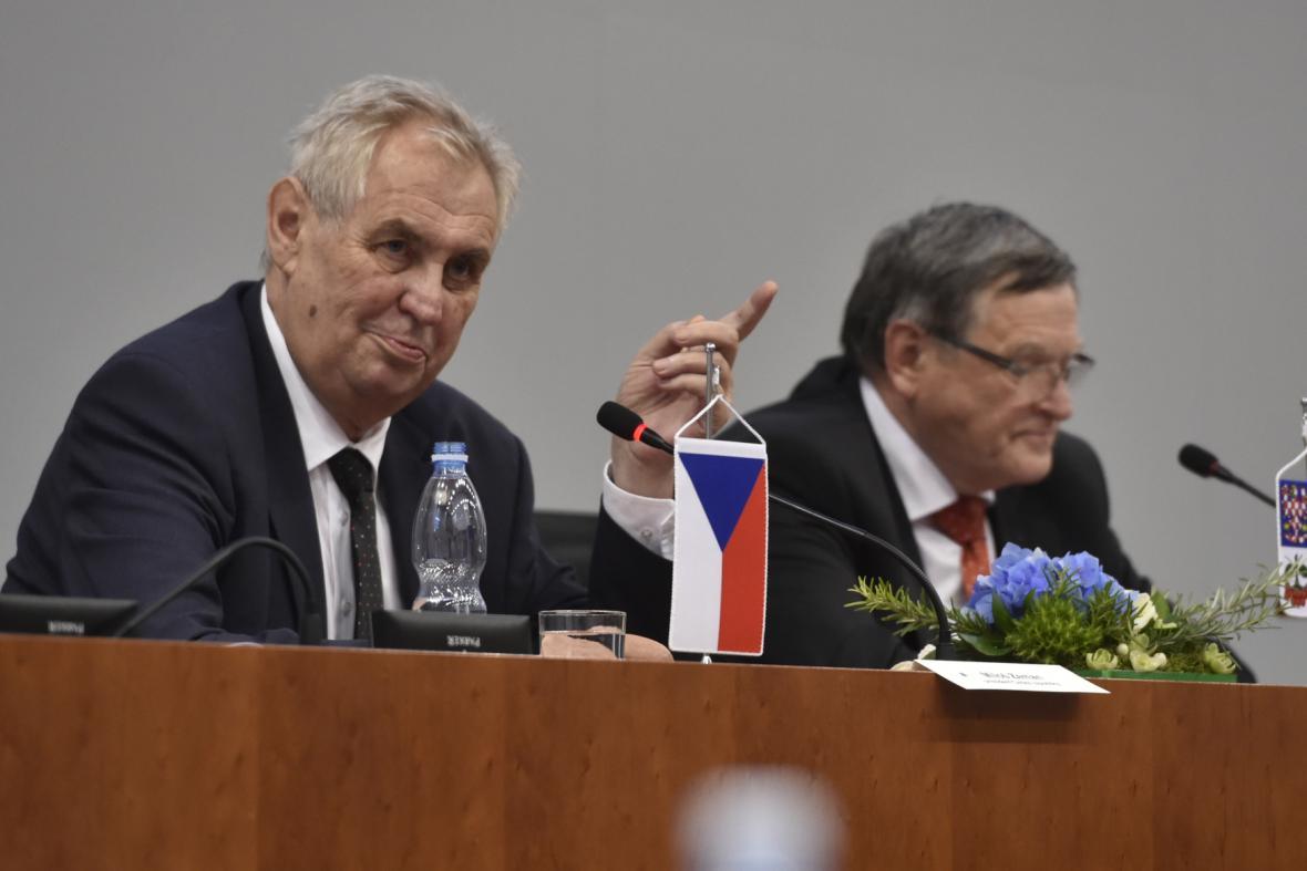 Miloš Zeman a Jiří Běhounek