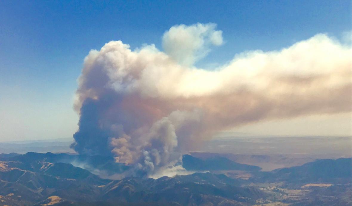 Požáry v Kalifornii a jejich následky