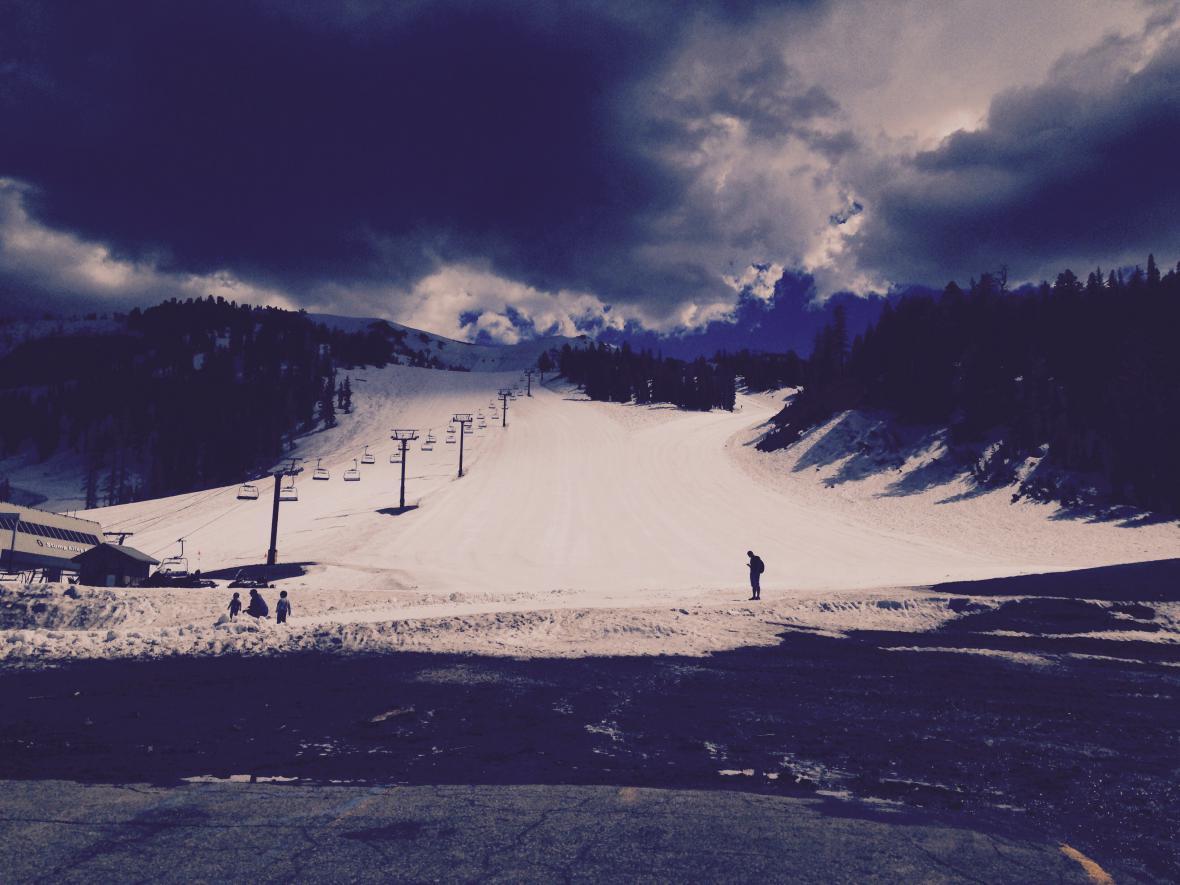 Sníh na hoře Mammoth