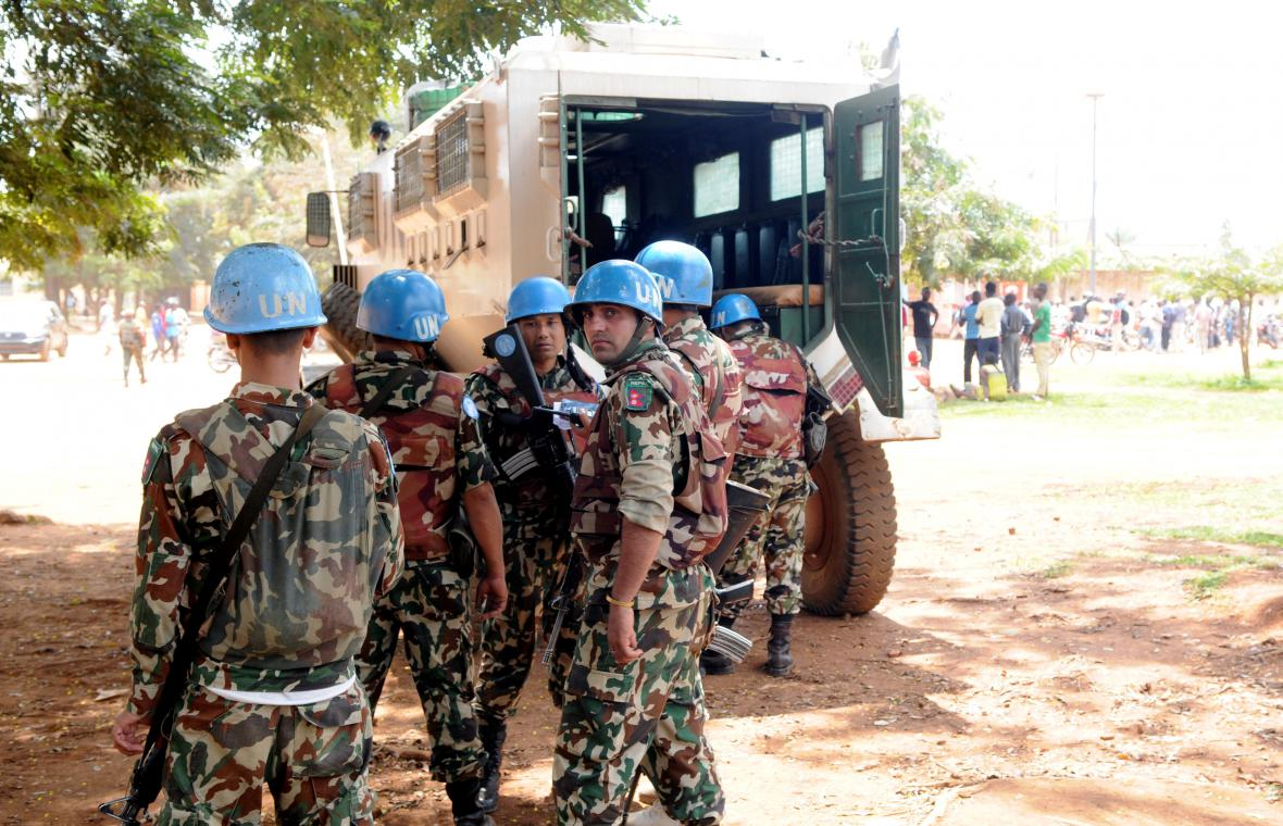 Příslušníci jednotek OSN v Kongu