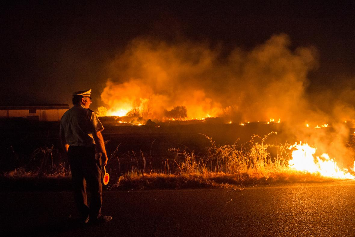 Požár v italské Kalábrii