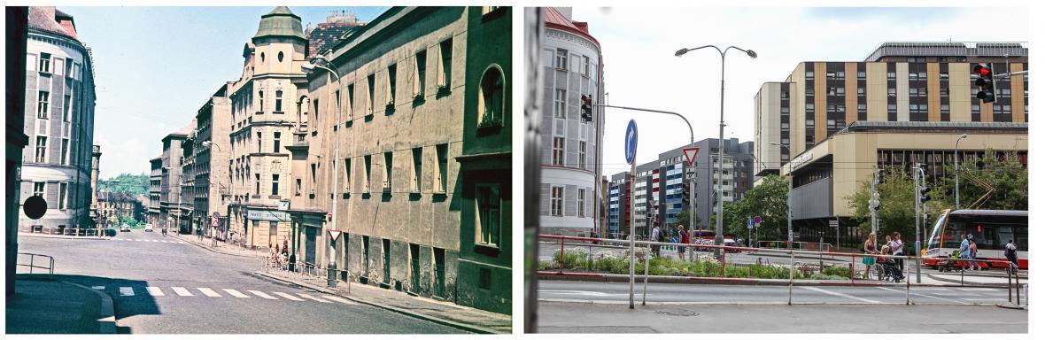 Pražský Žižkov před asanací a dnes