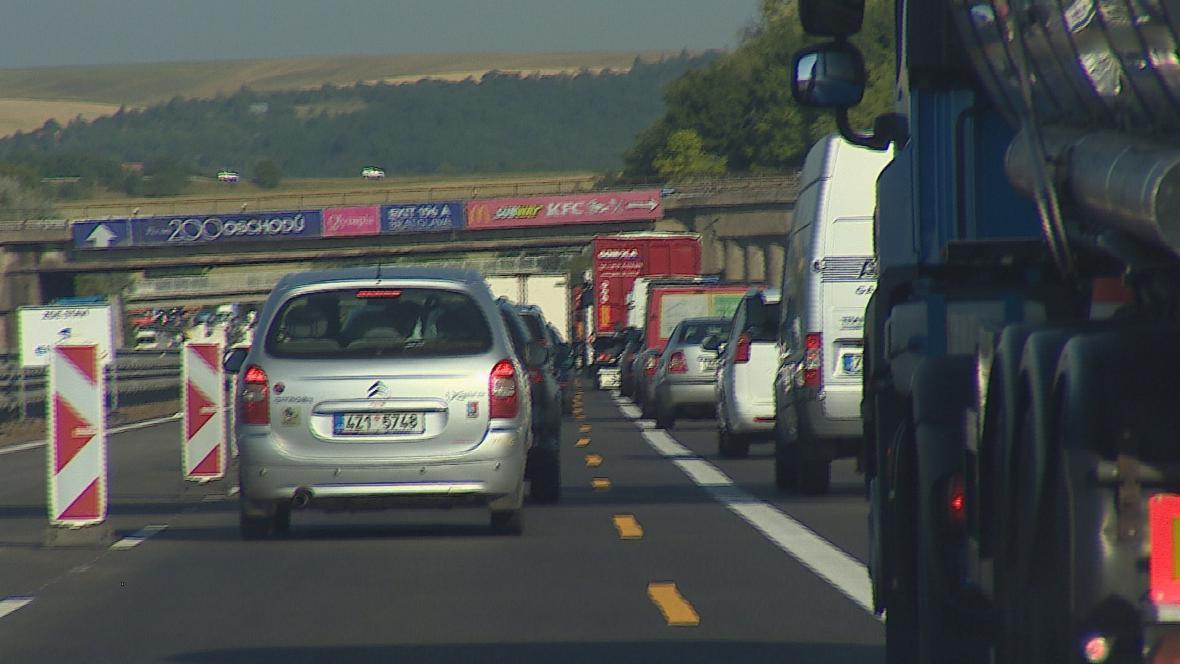 Dálnice D1 u Brna se znovu ucpává