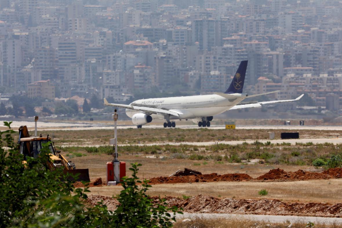 Letadlo společnosti Saudi Arabian Airlines
