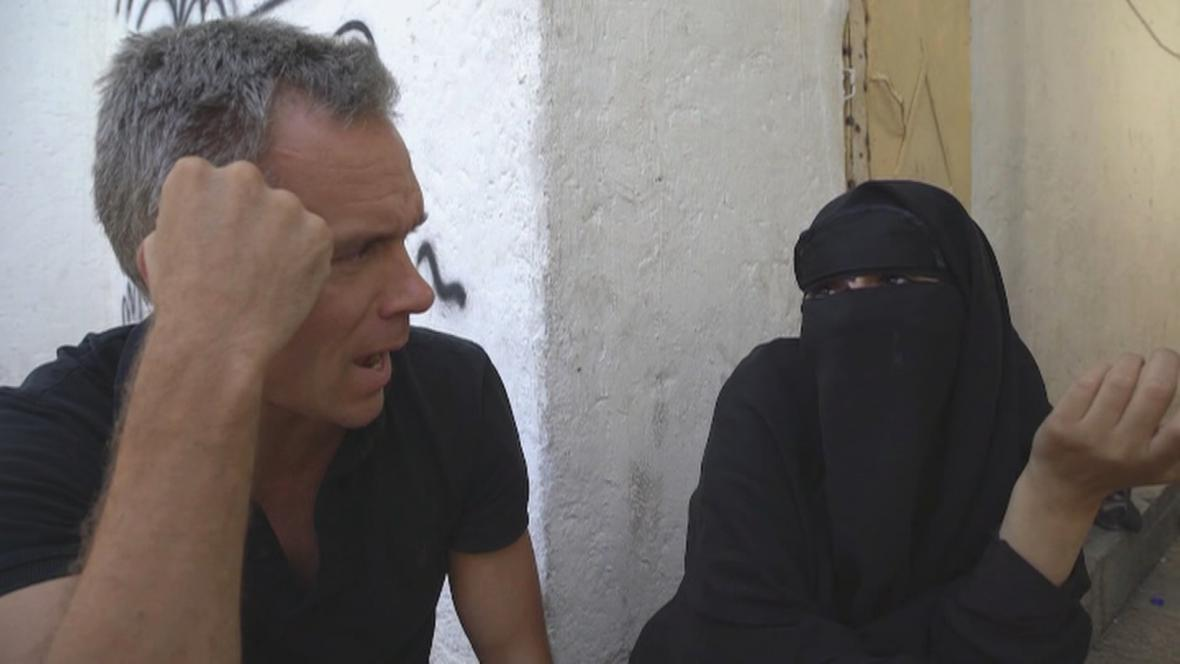 Reportér CNN během rozhovoru se Syřankou May