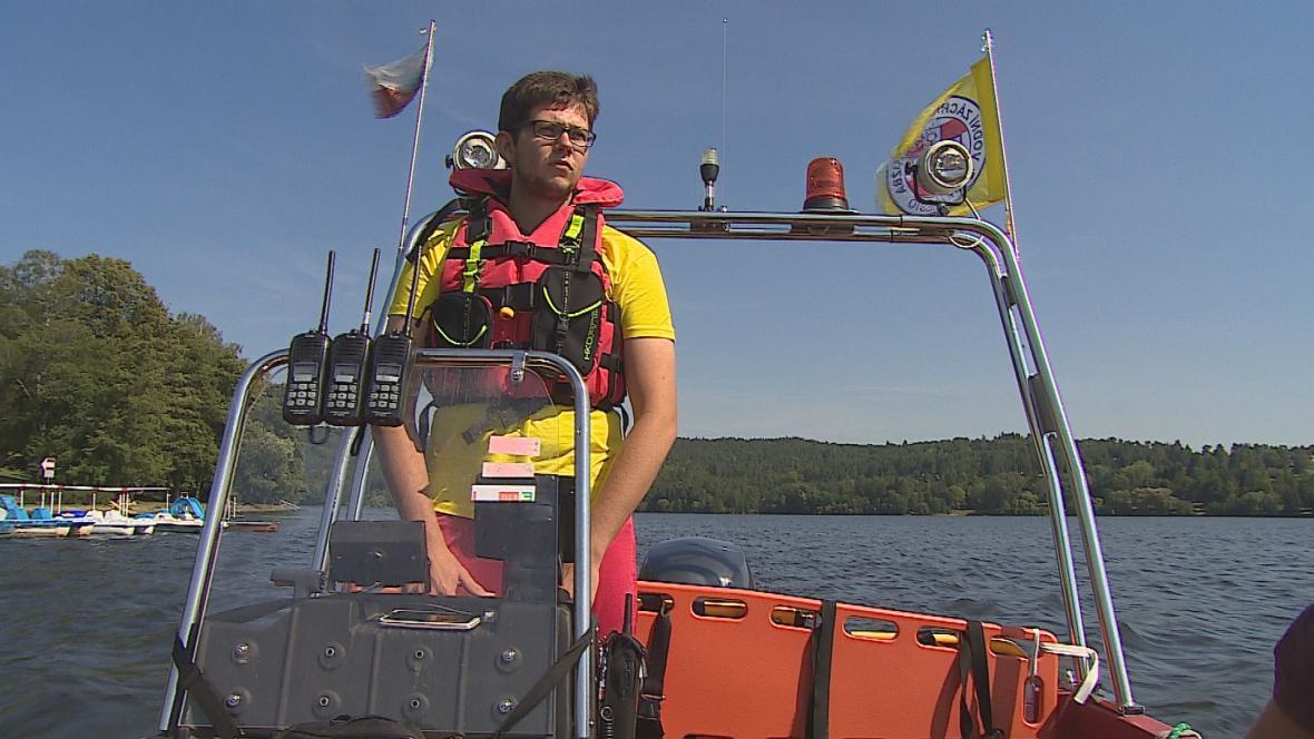 Vodní záchranná služba na Brněnské přehradě