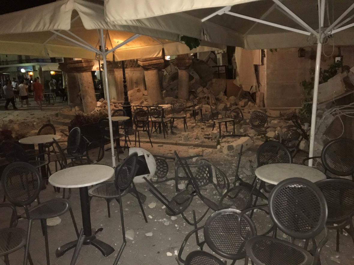 Zemětřesení na ostrově Kos