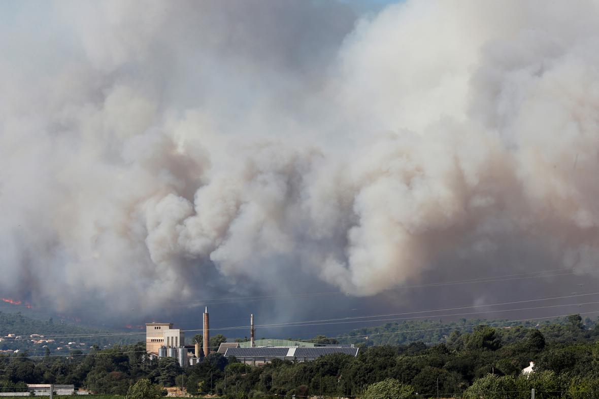 Požáry v jižní Francii