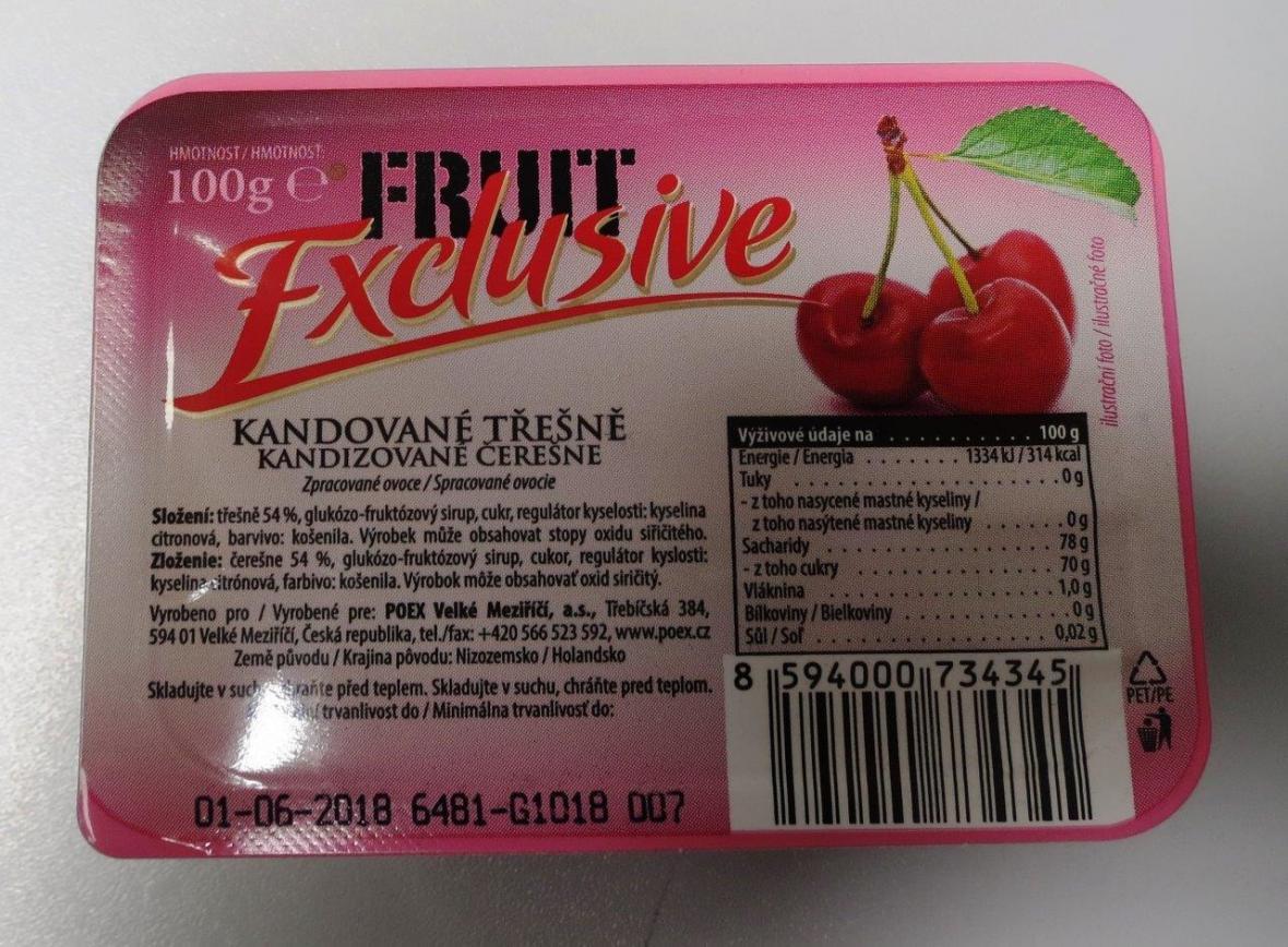 Inspekce nařídila stáhnout kandované třešně Fruit Exclusive