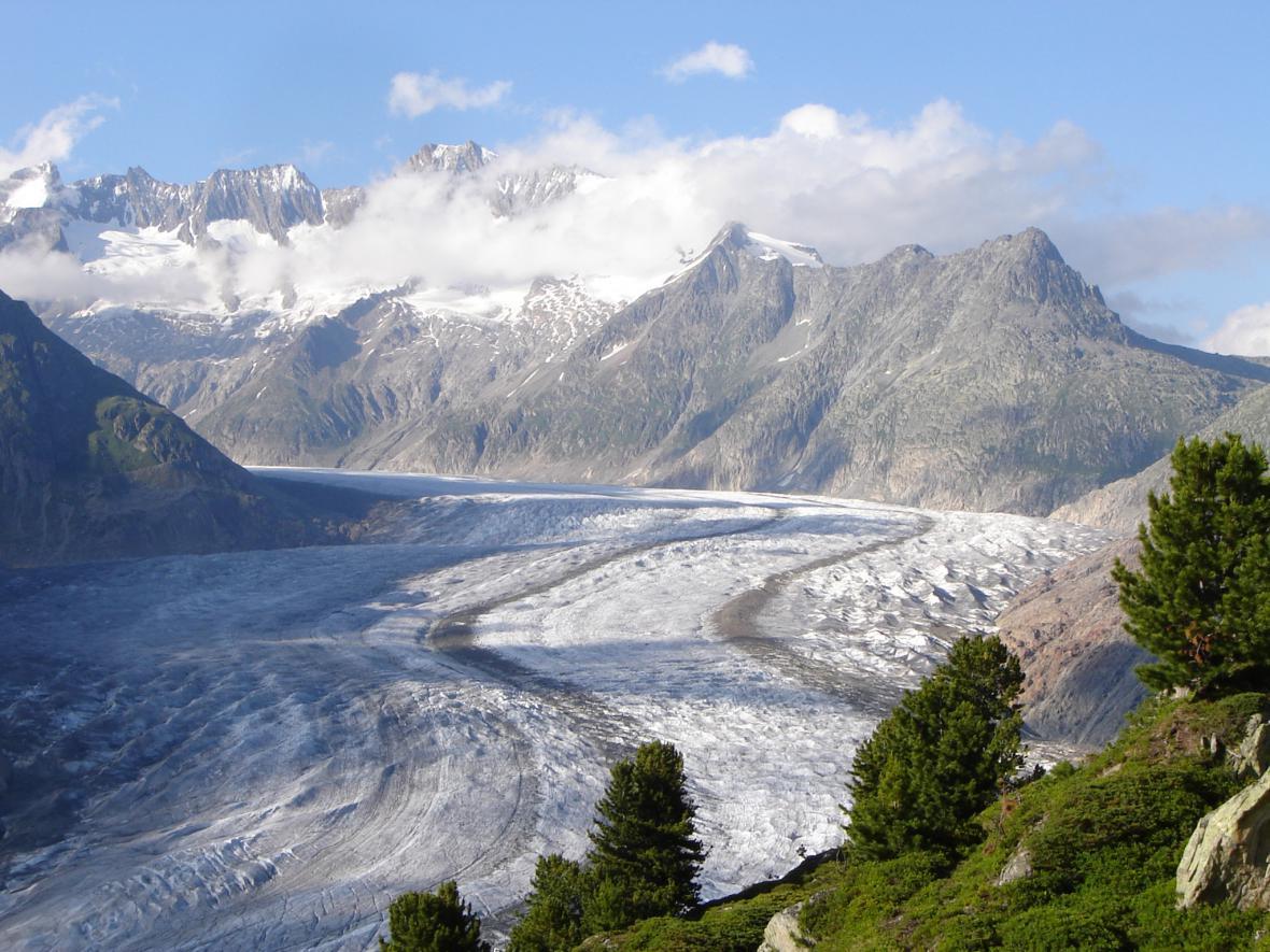 Ledovec Grosser Aletschgletscher
