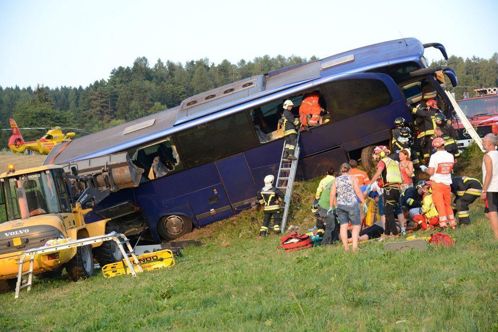Nehoda autobusu s českými turisty v Itálii