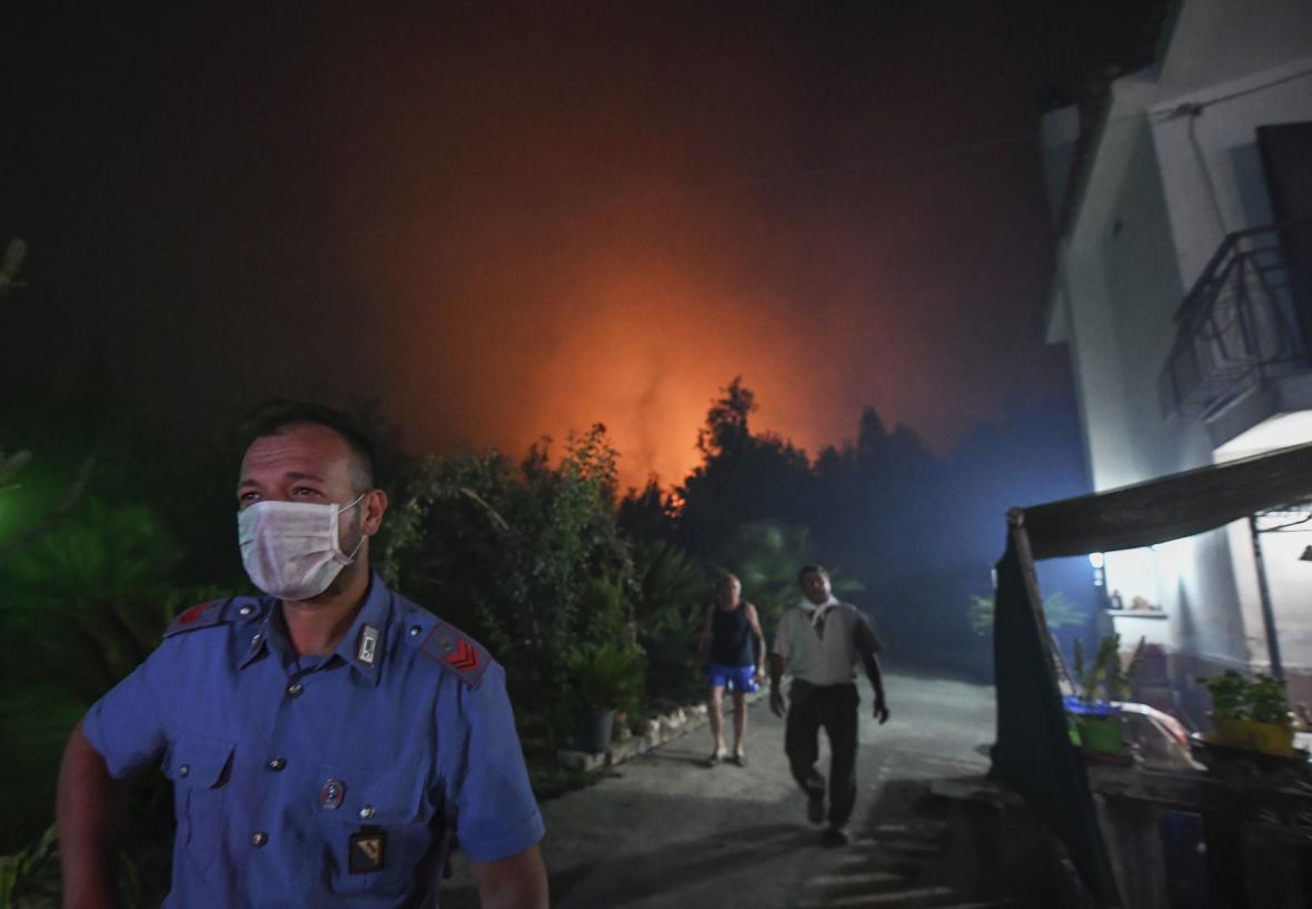 Požáry v Itálii