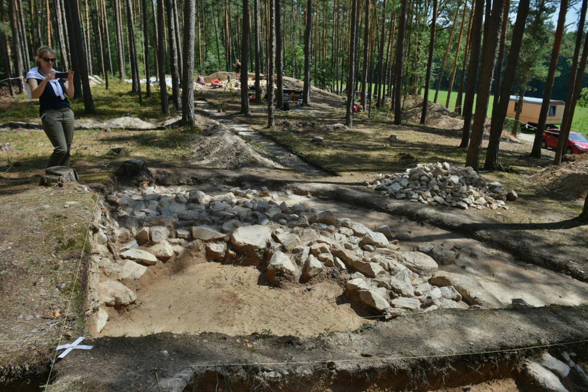 Archeologický průzkum u Plavu na Českobudějovicku