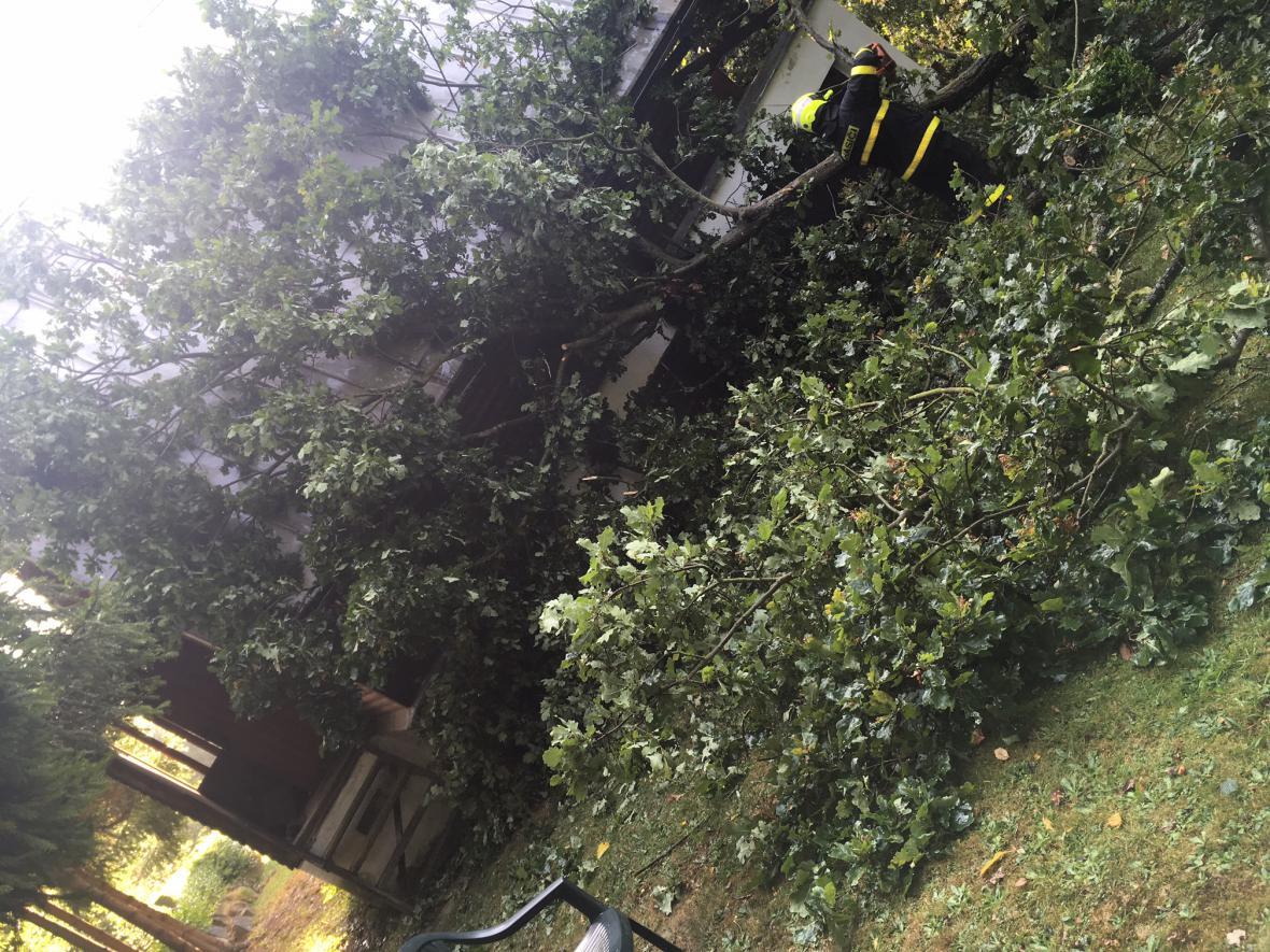 Zásah hasičů v Bílovci