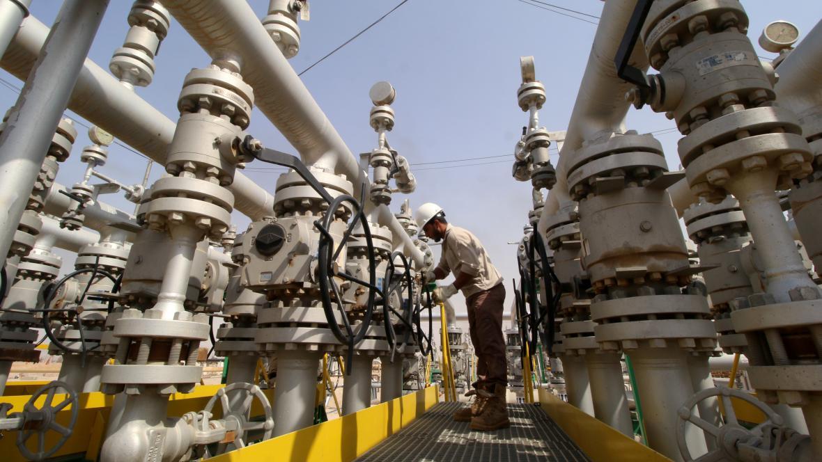 Potrubí s ropou v Iráku