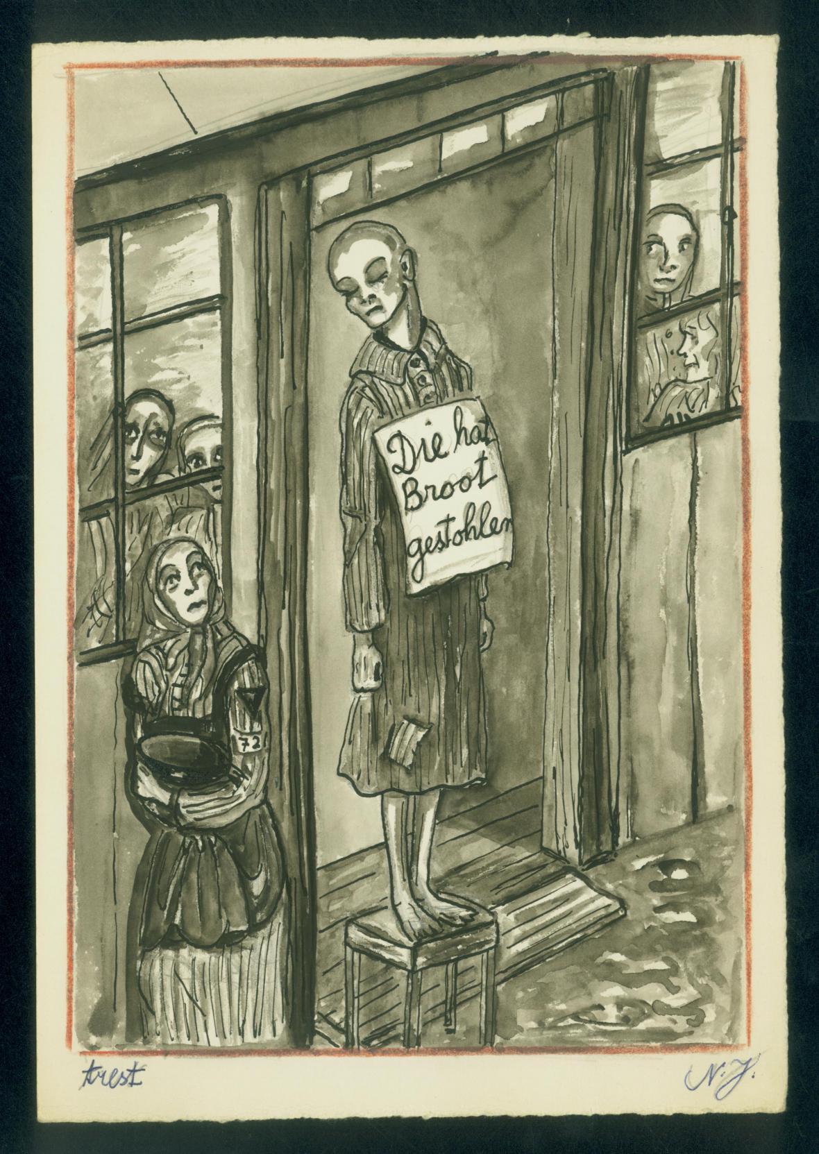 Dílo Niny Jirsíkové z koncentračního tábora v Ravensbrücku