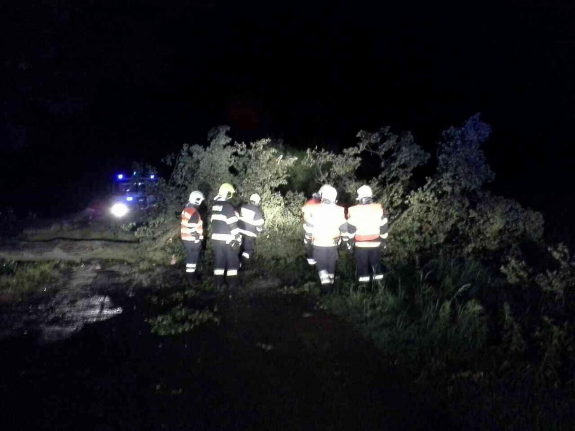 Zásahy hasičů na Olomoucku